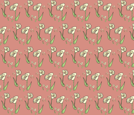 spoonflower_lilies1 fabric by eringus on Spoonflower - custom fabric