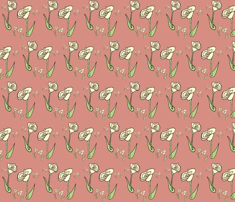 spoonflower_lilies1 fabric by eringus on Spoonflower - custom fabric