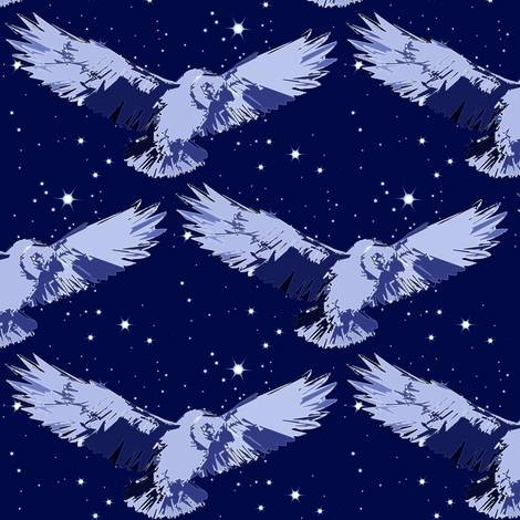 midnight owl fabric by keweenawchris on Spoonflower - custom fabric