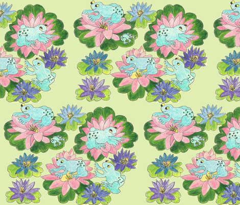 Lily Pad Leapers fabric by krussimages on Spoonflower - custom fabric