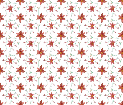 My_lilies fabric by ruthjohanna on Spoonflower - custom fabric