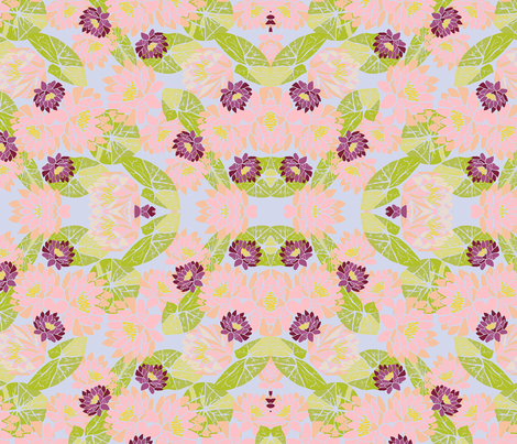 Lilly  fabric by habiba_artsy_studio on Spoonflower - custom fabric