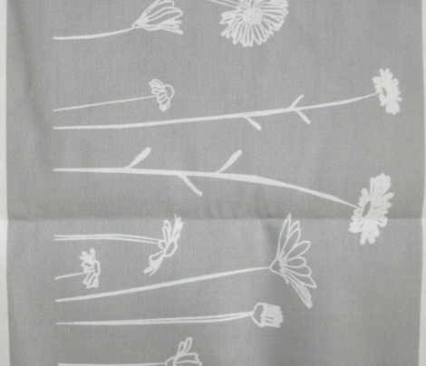 Wildflowers Border Print Grey White