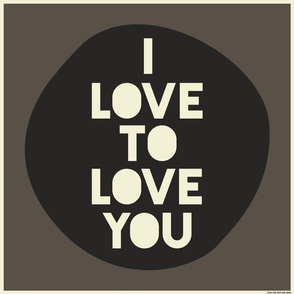 i love to love you cushion panel