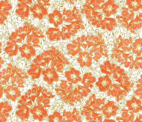 Kaffir Lilies fabric by nadiahassan on Spoonflower - custom fabric