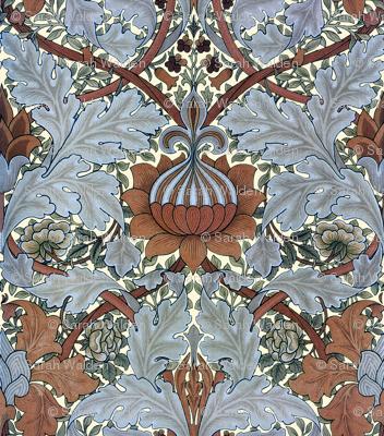 William Morris ~ Growing Damask ~ Tobacco Leaf