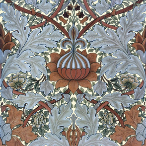 William Morris ~ Growing Damask ~ Tobacco Leaf