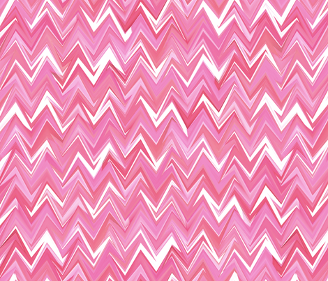 Wink at the next big jumpy chevron in fluid rose quartz hues fabric by weavingmajor on Spoonflower - custom fabric