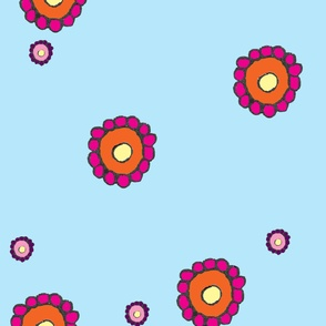 Doodle_aqua_fabric_design