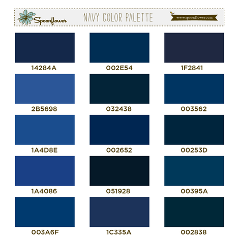 Spoonflower Navy Palette fabric by spoonflower on Spoonflower - custom fabric