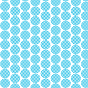 Small Aqua Dots with white polka dots