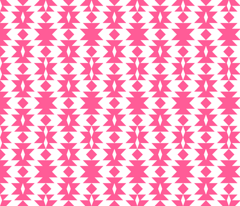 tribal_hot_pink fabric by holli_zollinger on Spoonflower - custom fabric