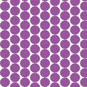 small violet dots with white polka dots