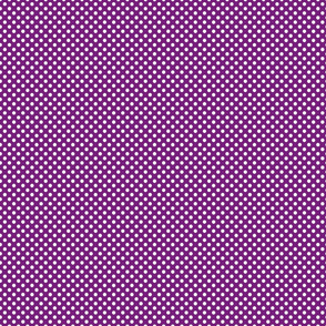 violet with white polka dots medium