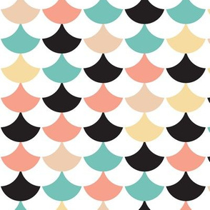 Geometric retro circus pops of chevron