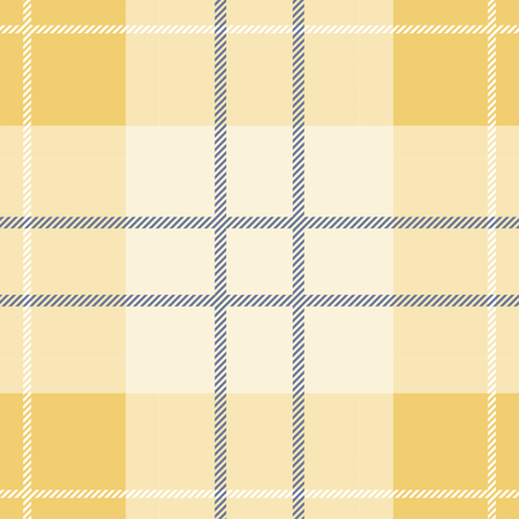 Craigowan Tartan ~ Provence ~ Rococo Gold, Chevalier and White fabric by peacoquettedesigns on Spoonflower - custom fabric
