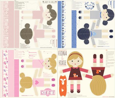 FOUR_DOLLS_1 fabric by stacyiesthsu on Spoonflower - custom fabric