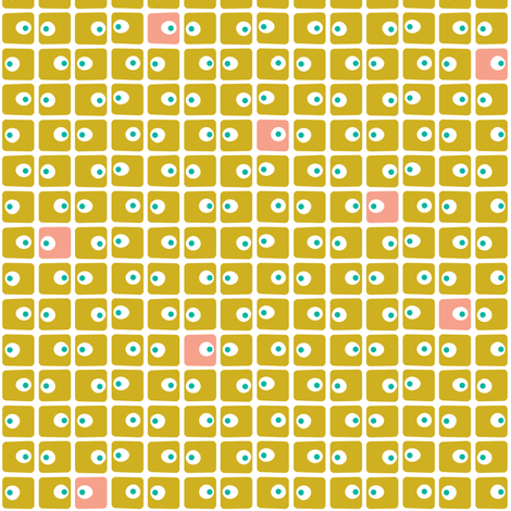 Kirkdale (Gold) fabric by pennycandy on Spoonflower - custom fabric