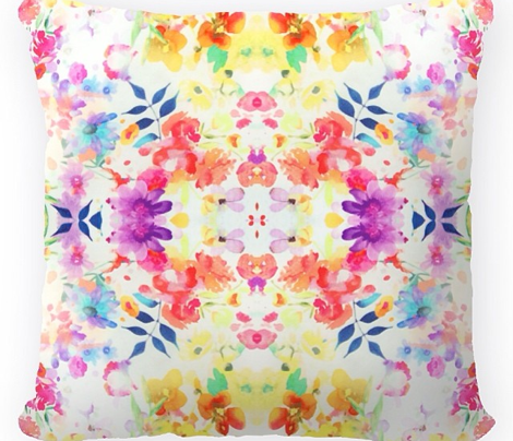 Floral Watercolour Kaleidescope - Large Flower Print