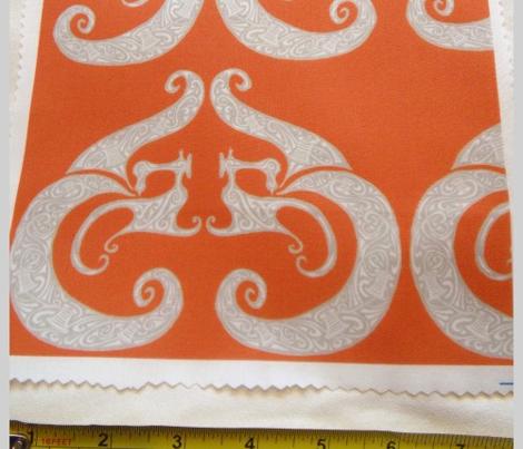 Sew Stylish - Orange & Silver