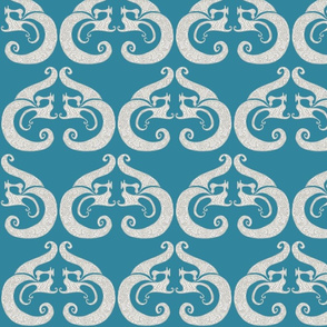Sew Stylish - Deep Teal & Silver