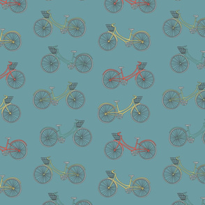 Summer Bicycles Blue