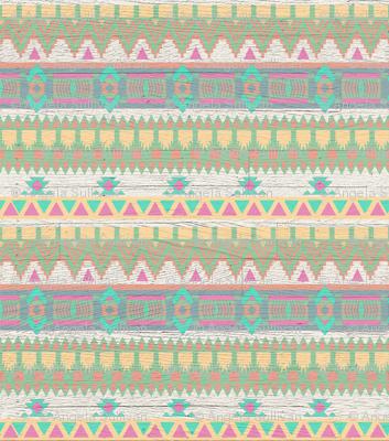 Whitewashed Aztec Tribal Pastel Bright Pattern