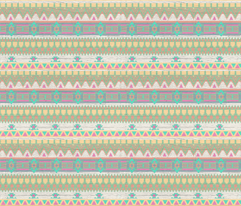 Whitewashed Aztec Tribal Pastel Bright Pattern fabric by cutencomfy on Spoonflower - custom fabric