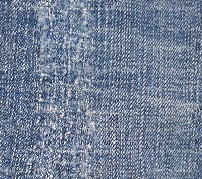 Worn Stripe Denim Blue Jeans Look
