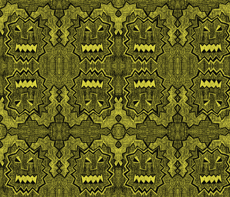 Rabid Rabbit Monster: illuminated fabric by jennerbug on Spoonflower - custom fabric