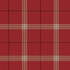 Pinkish Red Cream White Plaid (Revised)
