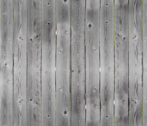 Weathered Gray Barnwood Fence Wood  fabric by cutencomfy on Spoonflower - custom fabric
