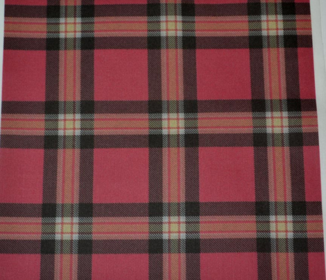 Red Black Cream Plaid (Revised)