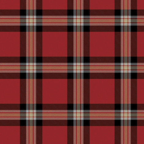 Red Black Cream Plaid (Revised) fabric - eclectic_house ...