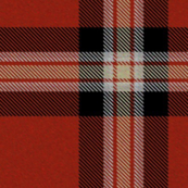 Red Black Cream Plaid
