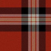 Red Black Cream Plaid