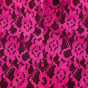 Lacy Hot Pink Lace Print