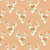 Minty floral deer
