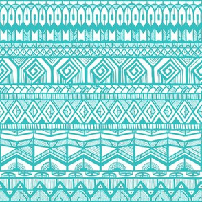 Turquoise tribal pattern