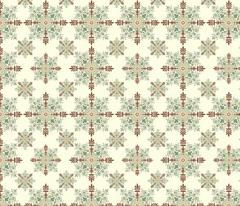 Victorian Parlor Walls - Greens