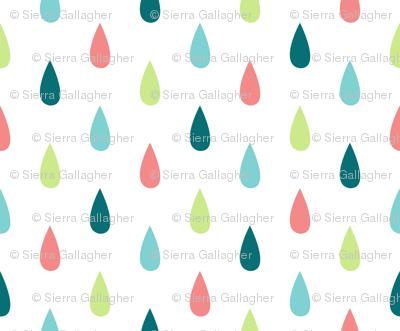 Small Colourful Raindrops Vertical
