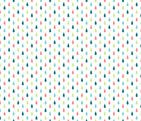 Small Colourful Raindrops Vertical fabric by sierra_gallagher on Spoonflower - custom fabric