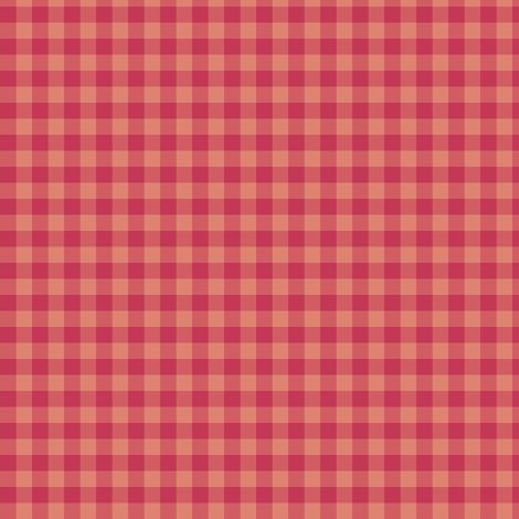 soft red gingham fabric by weavingmajor on Spoonflower - custom fabric