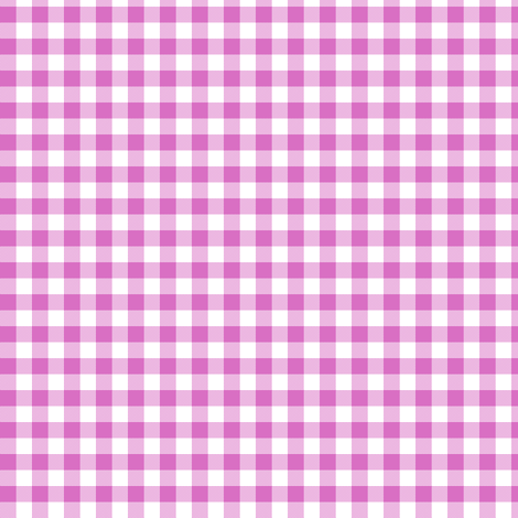 clover pink gingham fabric by weavingmajor on Spoonflower - custom fabric