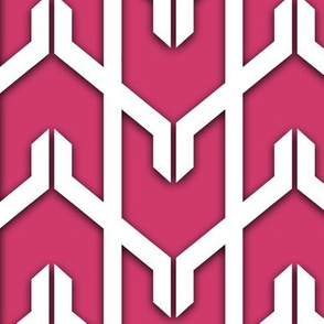 Modern Chevron in Fuchsia