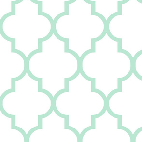 Large Scale Quatrefoil in Mint