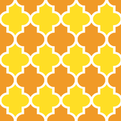 Quatrefoil in Summer Citrus