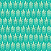 Tassel (Green) || grain wheat corn leaves farm crop rows harvest feed sack feedsack geometric nature garden