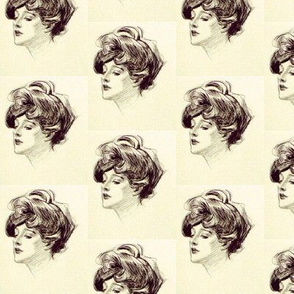 Gibson girl Black and White