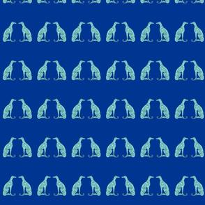 """Smaller Greyhounds - 3.38"""" height (blue)"""